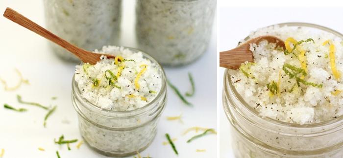 Освежающий соляной скраб для тела в домашних условиях