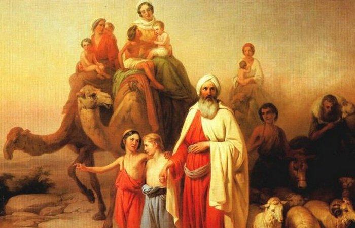 Переселение Авраама. Картина венгерского художника Йожефа Молнара, 1850 год.