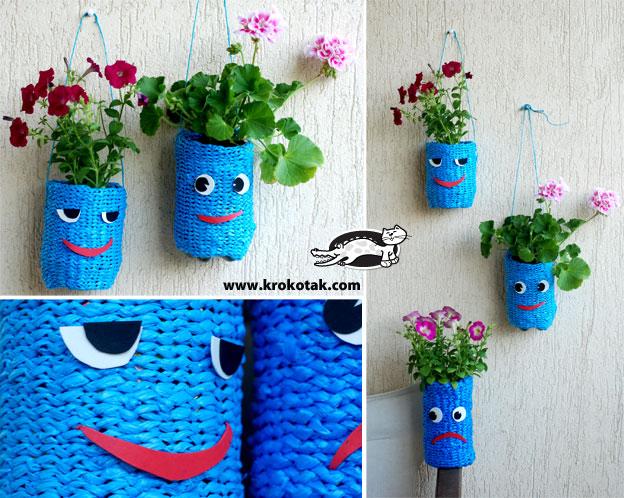 Веселые подвесные горшочки для цветов