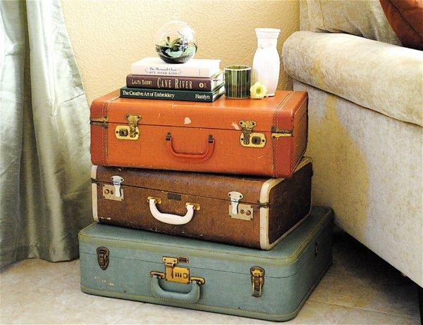 Чемоданы - стильный и простой способ оригинально оформить собственное жилище