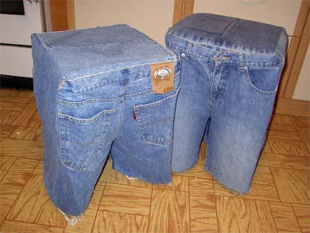что сделать со старыми джинсами