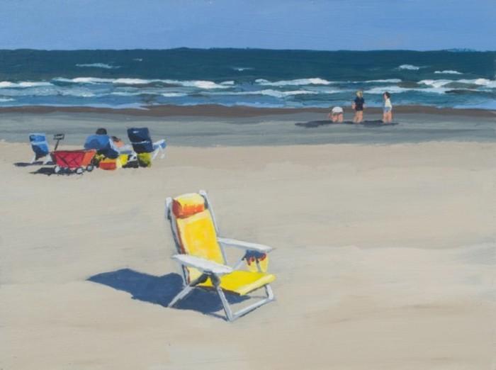 Жёлтое пляжное кресло. Автор: Eddie Schrieffer.