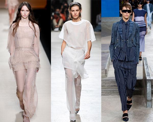Модные повседневные костюмы в пижамном стиле