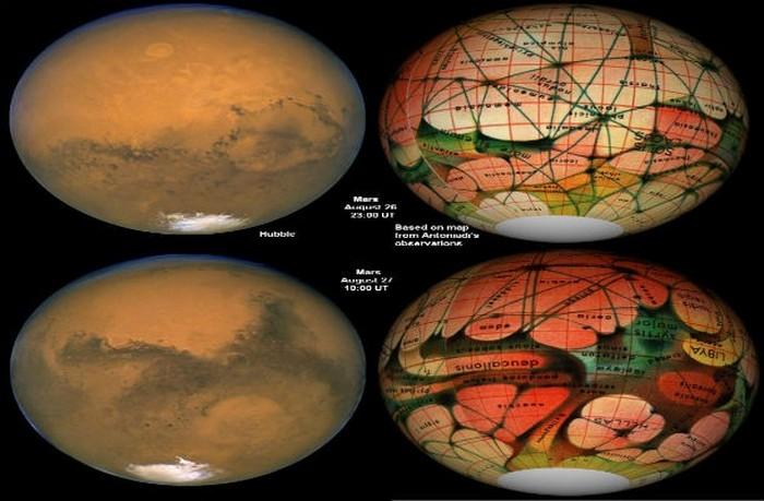 Каналы на Марсе.