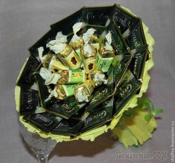 Букет из конфет своими руками мастер класс