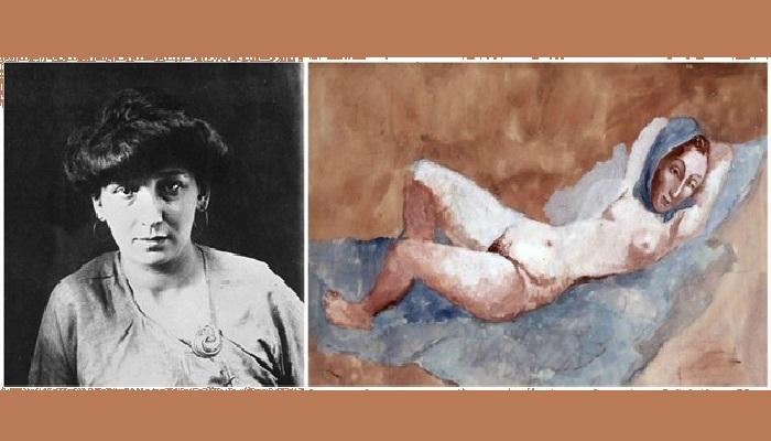 «Лежащая обнажённая» (1906). / Фернанда Оливье.
