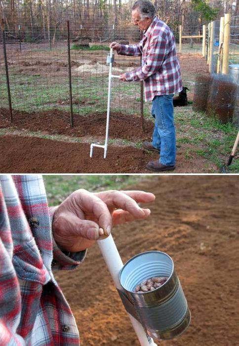 Инструмент для высадки семян.