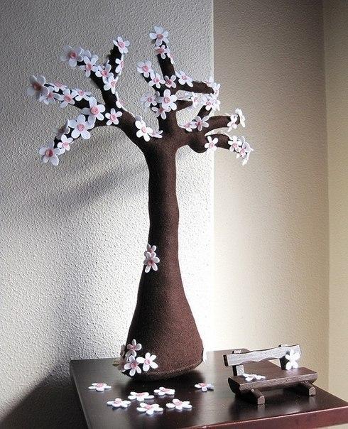 Деревья из фетра