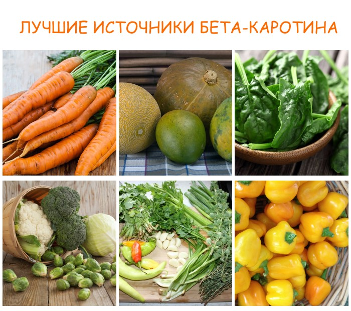 Какие витамины лучше для кожи лица - бета-каротин
