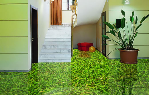 3D пол: жилище в эко-стиле