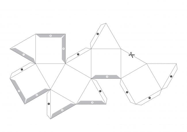 Шаблон №2 для создания геометрической свечи