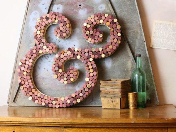 Идея дизайна и декора из винных пробок