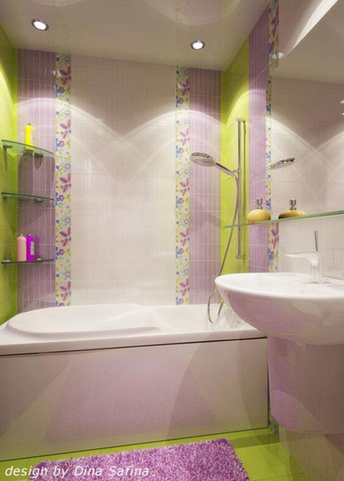 яркая плитка в ванной фото