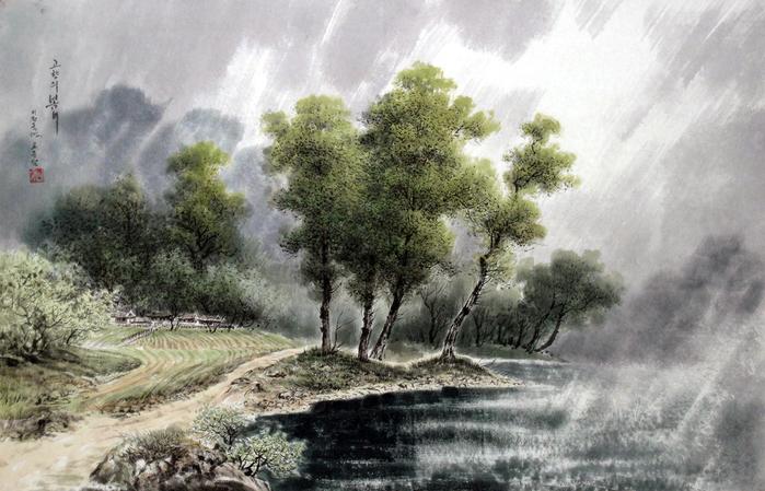 로유담_03_고향의 봄비 - Весенний дождь в родной деревне (700x449, 404Kb)