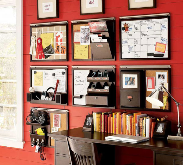 Организация стены у рабочего стола