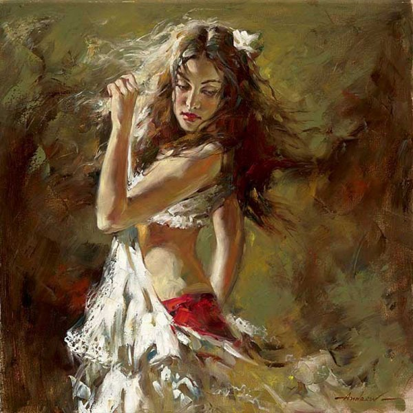 танцовщица живопись Андрей Атрощенко