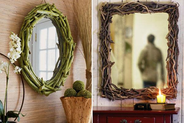 Рама зеркала ветки