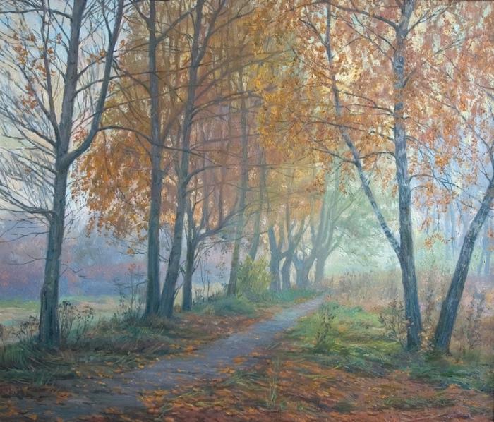 Утро.Осенняя аллея (700x598, 519Kb)