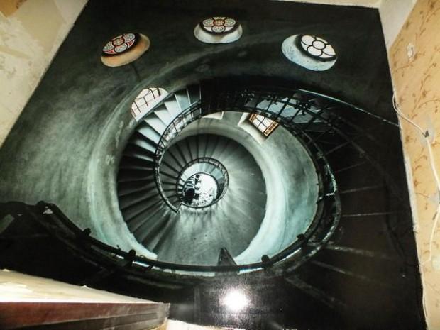 наливной пол в виде лестницы