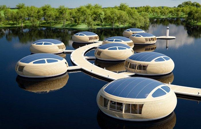 Плавающее жилье «WaterNest 100».