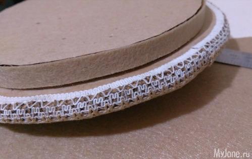 Круглая шкатулка из гофрированного картона. Мастер-класс