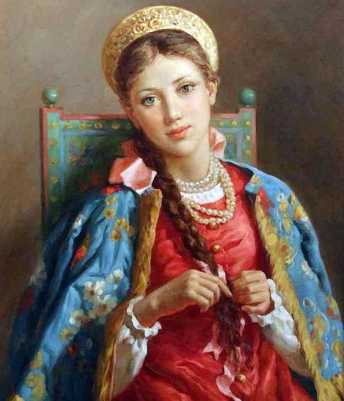 Русская девушка с косичками аня фото 585-106