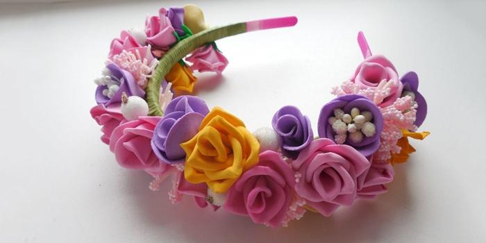 Мастер класс как делать цветы из фоамирана