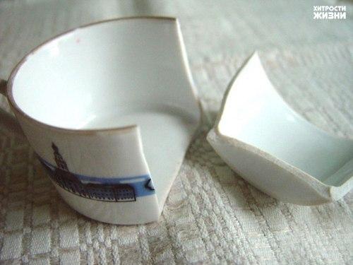 Органическое склеивание разбитой посуды