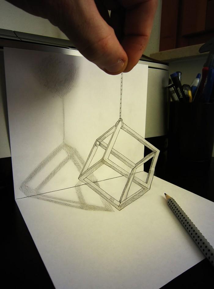 3Ddrawings17 Самые впечатляющие карандашные 3D рисунки от художников со всего света