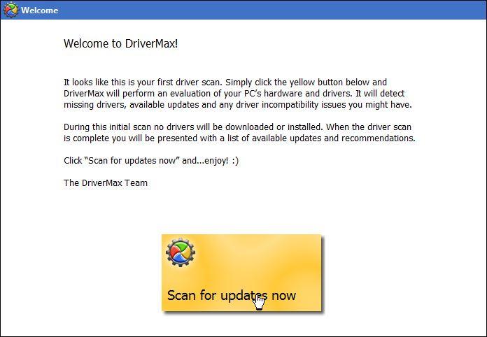 Проверка обновлений в DriverMax