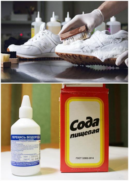Химчистка белых кроссовок.   Фото: Frendi.