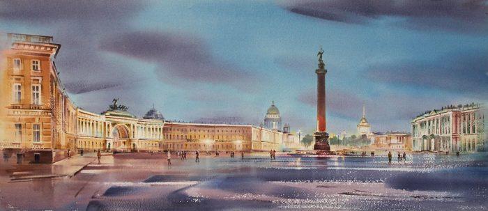 художник Константин Кузема акварель картины - 09