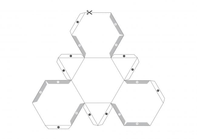 Шаблон №1 для создания геометрической свечи