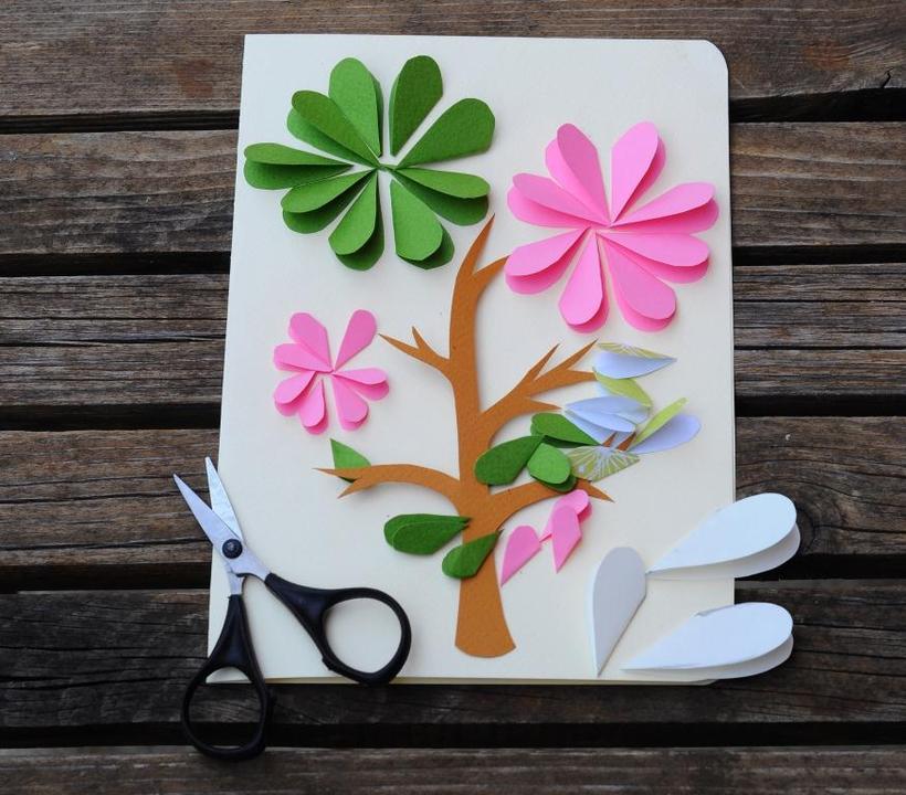 Как сделать открытку своими руками для 8 лет, скрап открытки новому
