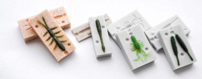 Форма для изготовления силиконовых приманок