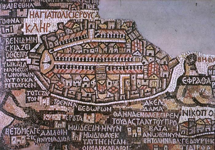 Красивая и информативная мозаичная карта из Мадабы