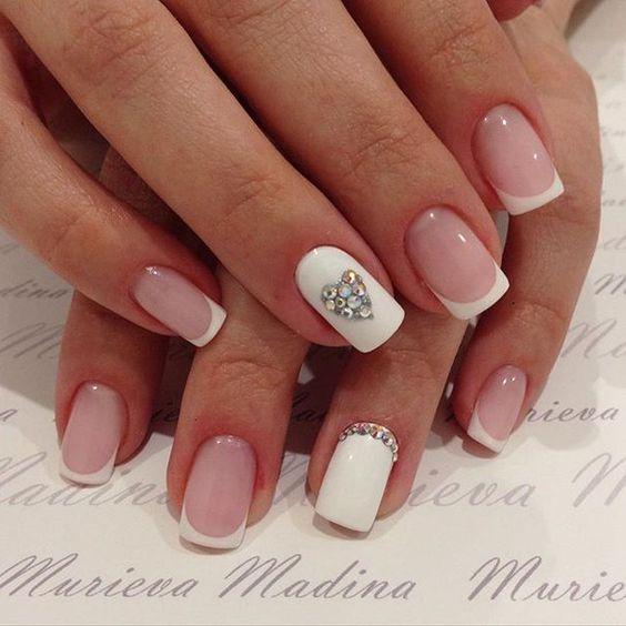 Французский на ногтях своими руками маникюр