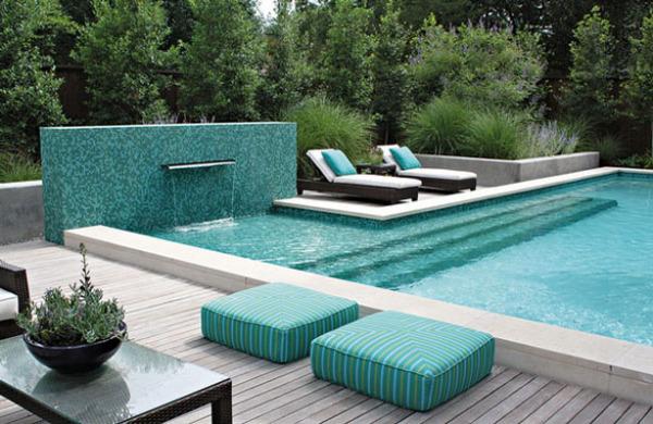 Мозаика в бассейне от Bonick Landscaping