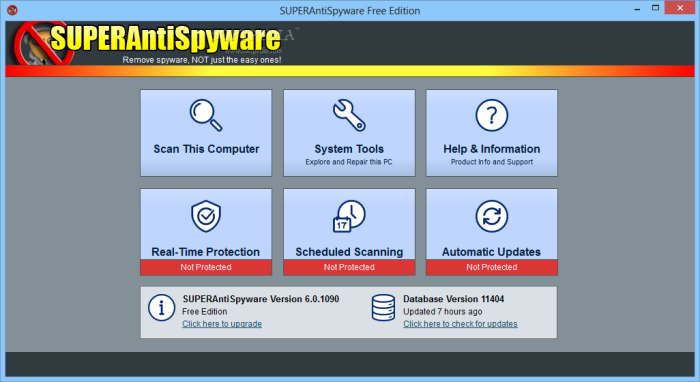 SUPERAntiSpyware - защита по принципу «все включено».