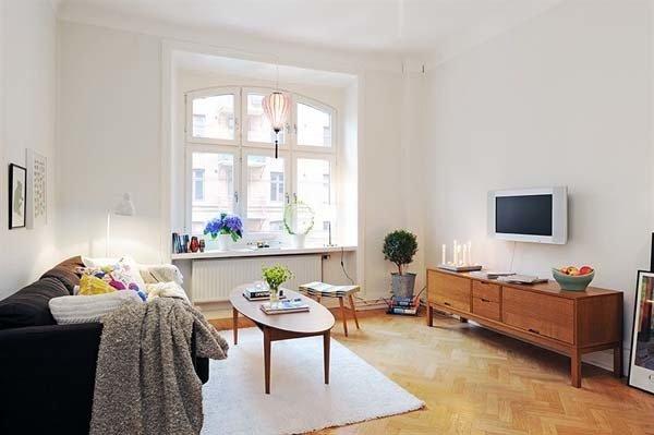 Малогабаритка, оформленная в скандинавском стиле