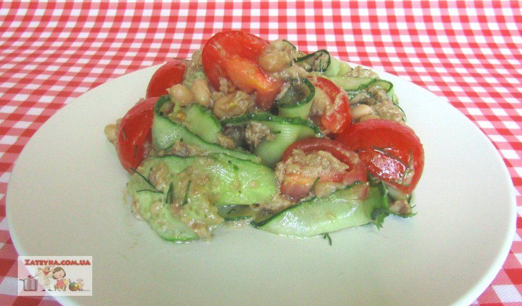 салат с консервированным тунцом низкокалорийный