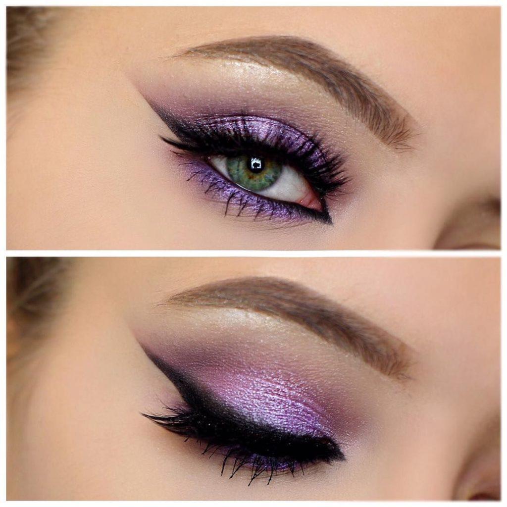 макияж в фиолетовых тонах пошаговое фото ведущие актеры