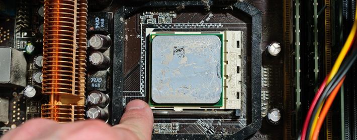 Как снять процессор