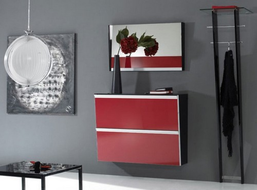 Мебель для прихожей цвета вишня