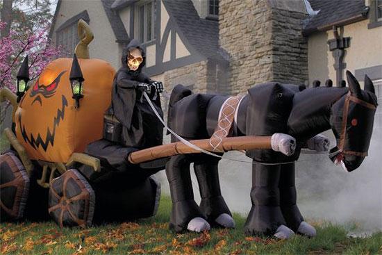 Украшения для участка на Хэллоуин