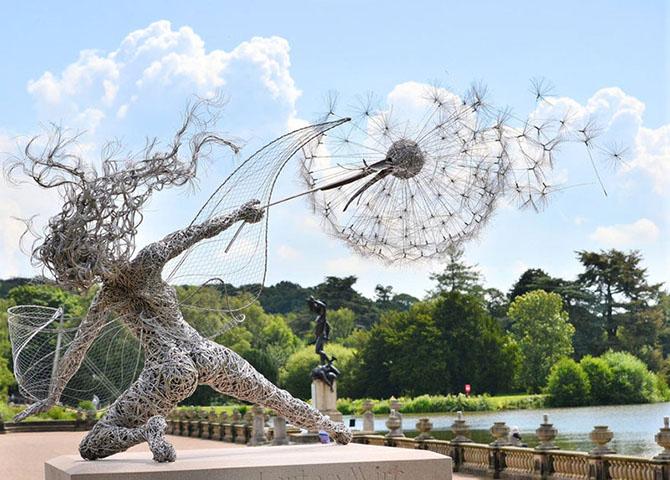 Удивительные скульптуры из стальной проволоки