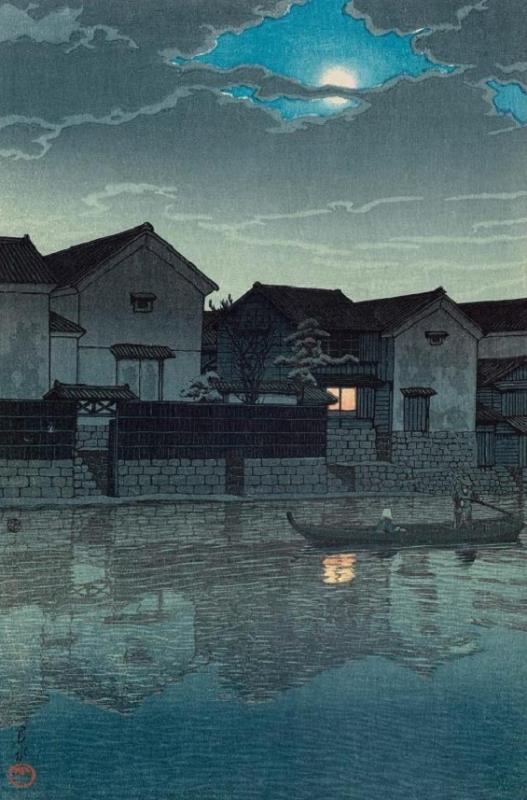 "Хасуи Кавасэ. ""Под лунным светом, Мацуэ, Идзумо""  1924"
