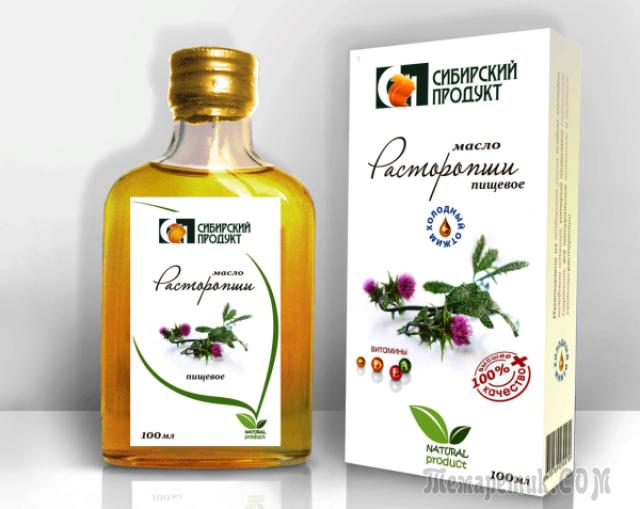 Масло расторопши - полезные свойства и применение