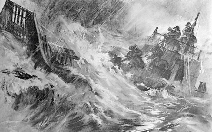 Потерянные в океане. подвиг, страницы истории, чтобы помнили
