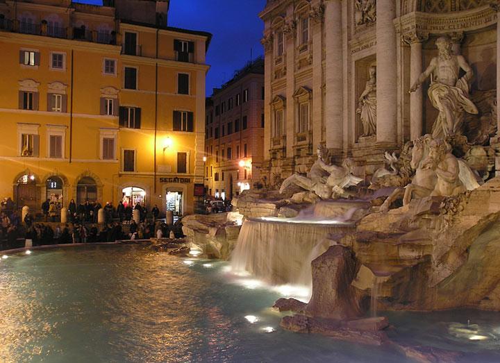 Фонтан Треви в Риме достопримечательности, желания, мир